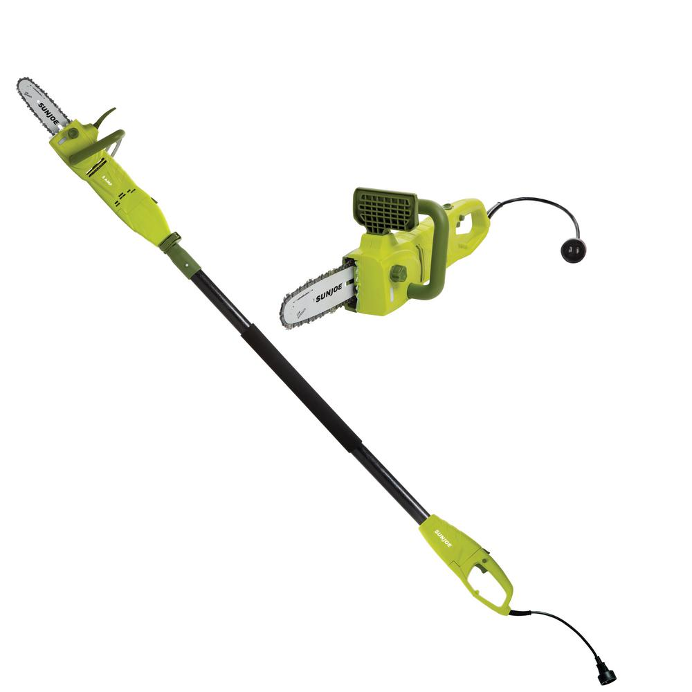 Sun Joe 2-in-1 8 in. 8 Amp Electric Convertible Pole Chain Saw