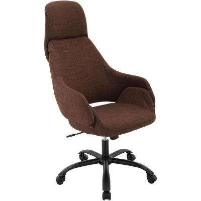 Bowen 17.25 in. to 22 in. Gas Lift Chocolate Wheeled Office Chair