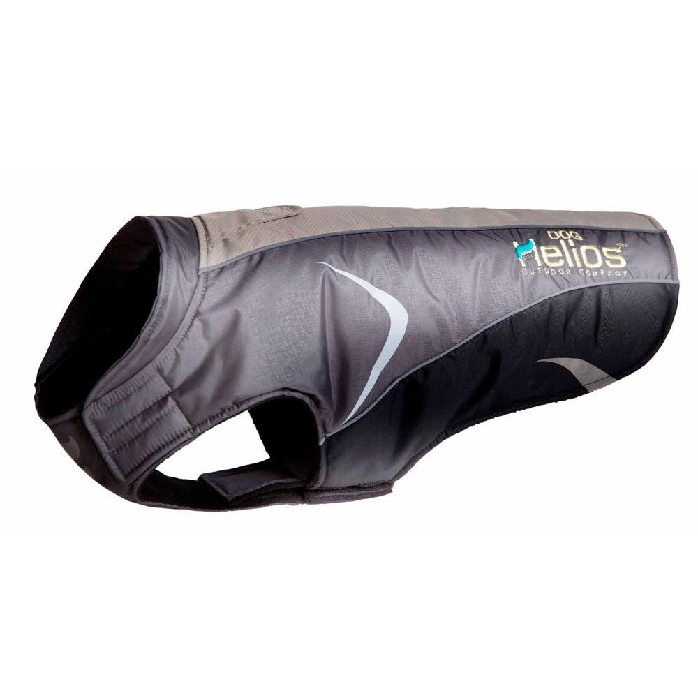 Medium Black and Grey Altitude-Mountaineer Wrap Protective Waterproof Dog Coat