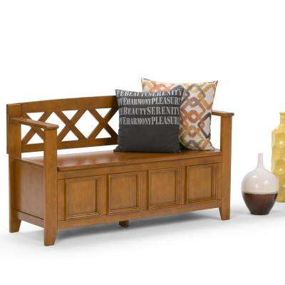 Amherst Light Avalon Brown Storage  Bench