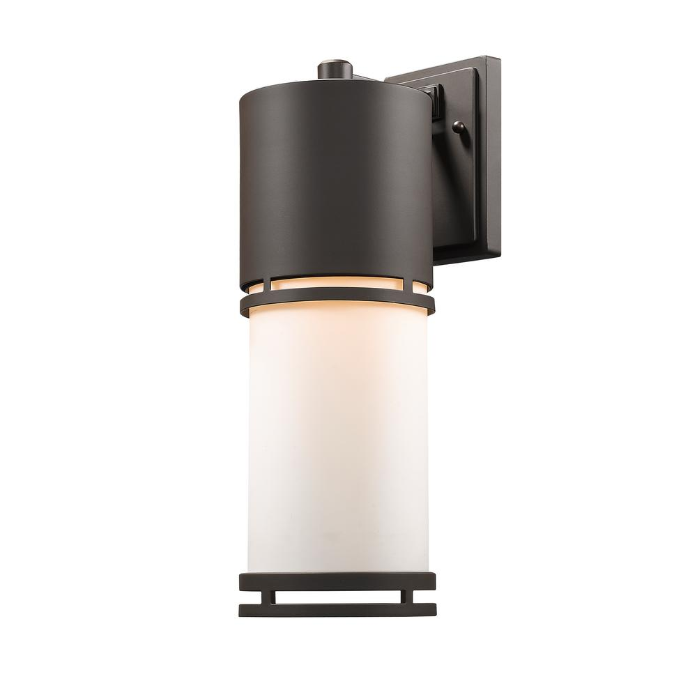 Seija 75-Watt Equivalent Outdoor Deep Bronze Integrated LED Wall Mount Sconce