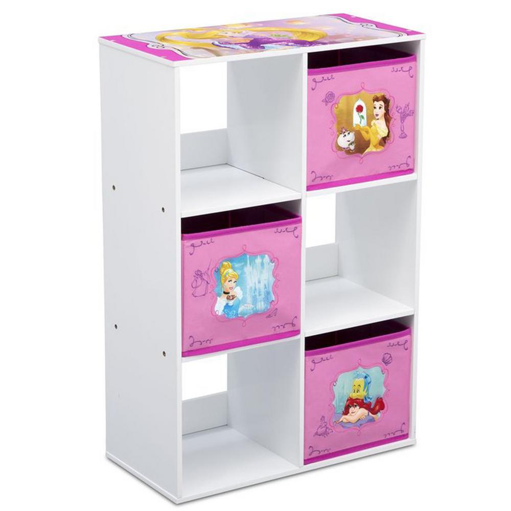 Disney Princess Multi-Color 6 Cubby-Storage Unit