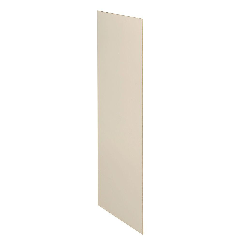 Bronze Glaze Assembled 11.25x42x0.1875 in. Wall Kitchen Skin End Panel with