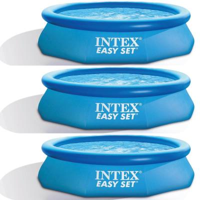 Easy Set 10 ft. x 30 ft. Round 30 in. Deep inflatable Pool (3-Pack)
