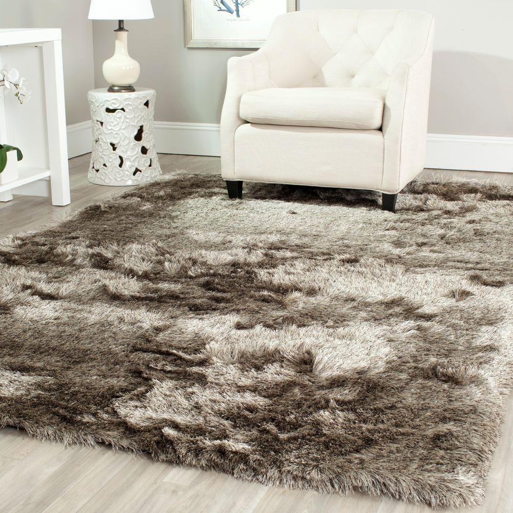 Attractive 10 By 10 Rug Part - 9: Safavieh Paris Shag Sable 8 Ft. X 10 Ft. Area Rug