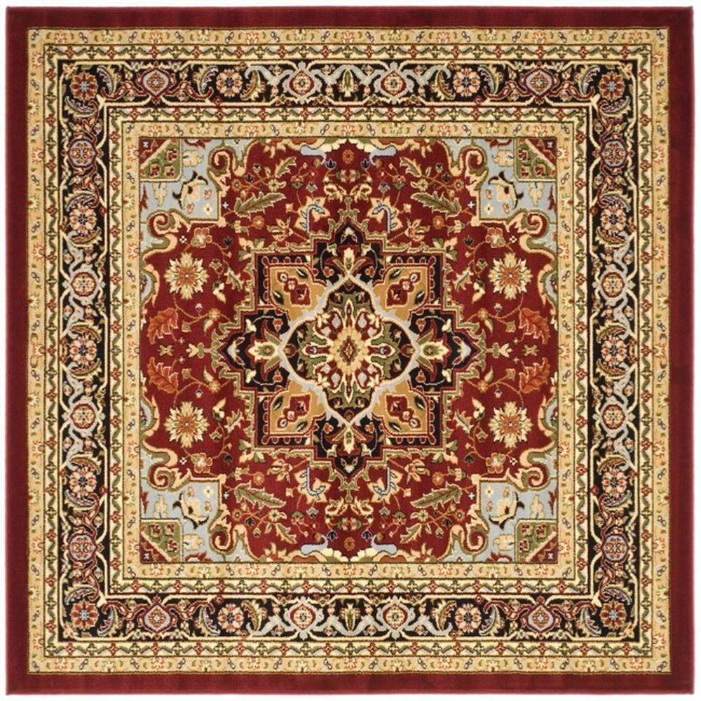Safavieh Lyndhurst Red Black 8 Ft X 8 Ft Square Area Rug