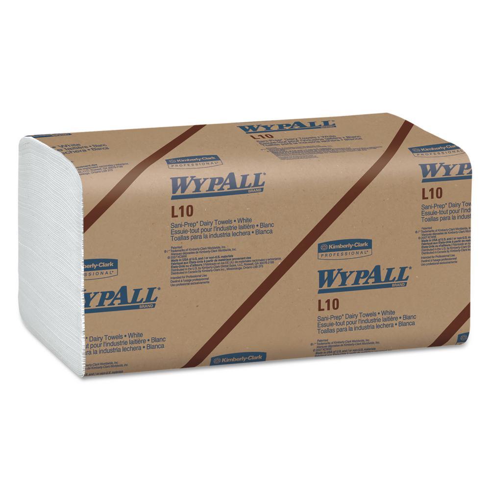 L10 SANI-PREP Dairy Towels, Banded, 1-Ply, 10 1/2 x 9 3/10, 200/Pk, 12 Pk/Carton