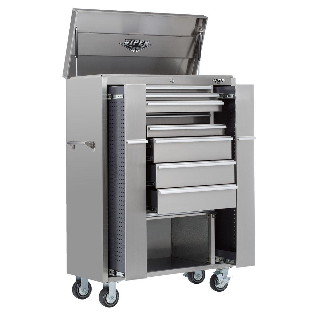 Viper Tool Storage 41 in. Stainless Steel Ultimate Box