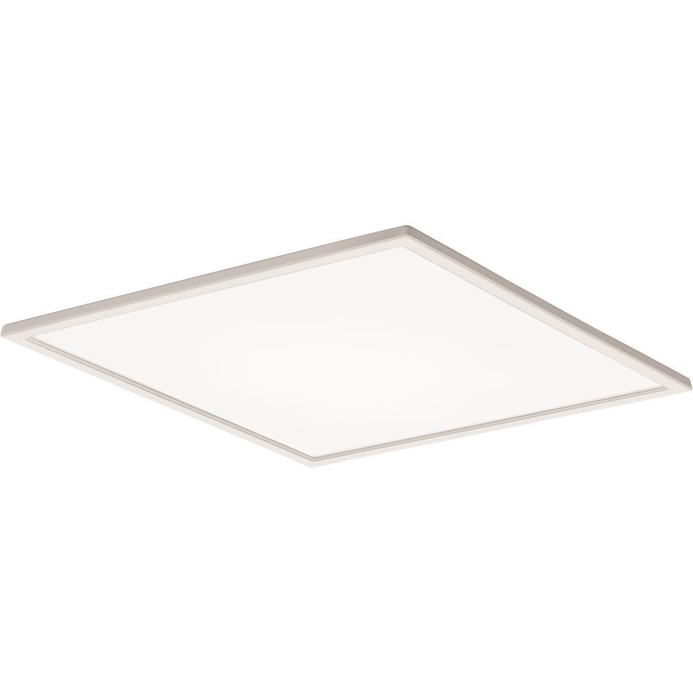 Lithonia Lighting 4 Ft 40 Watt White Integrated Led: Lithonia Lighting 2 Ft. X 2 Ft. 64-Watt Equivalent White