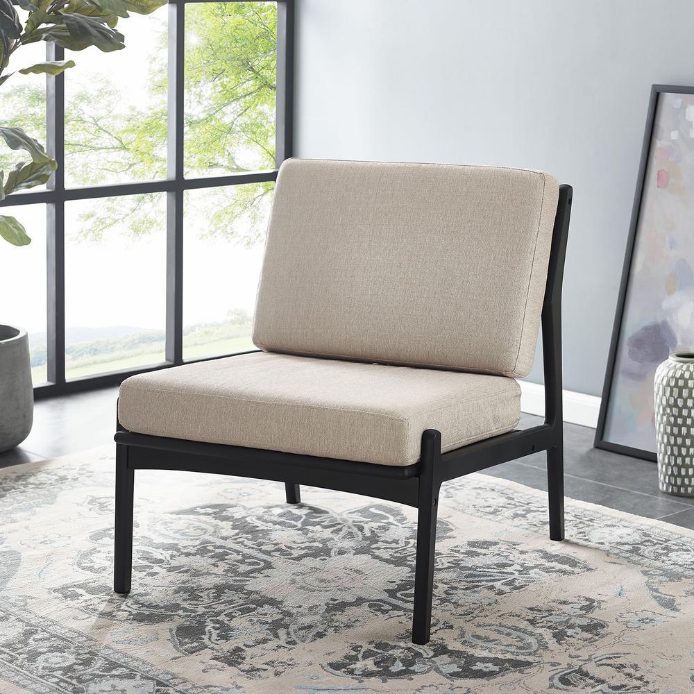 Calton Dark Sienna Armless Club Chair