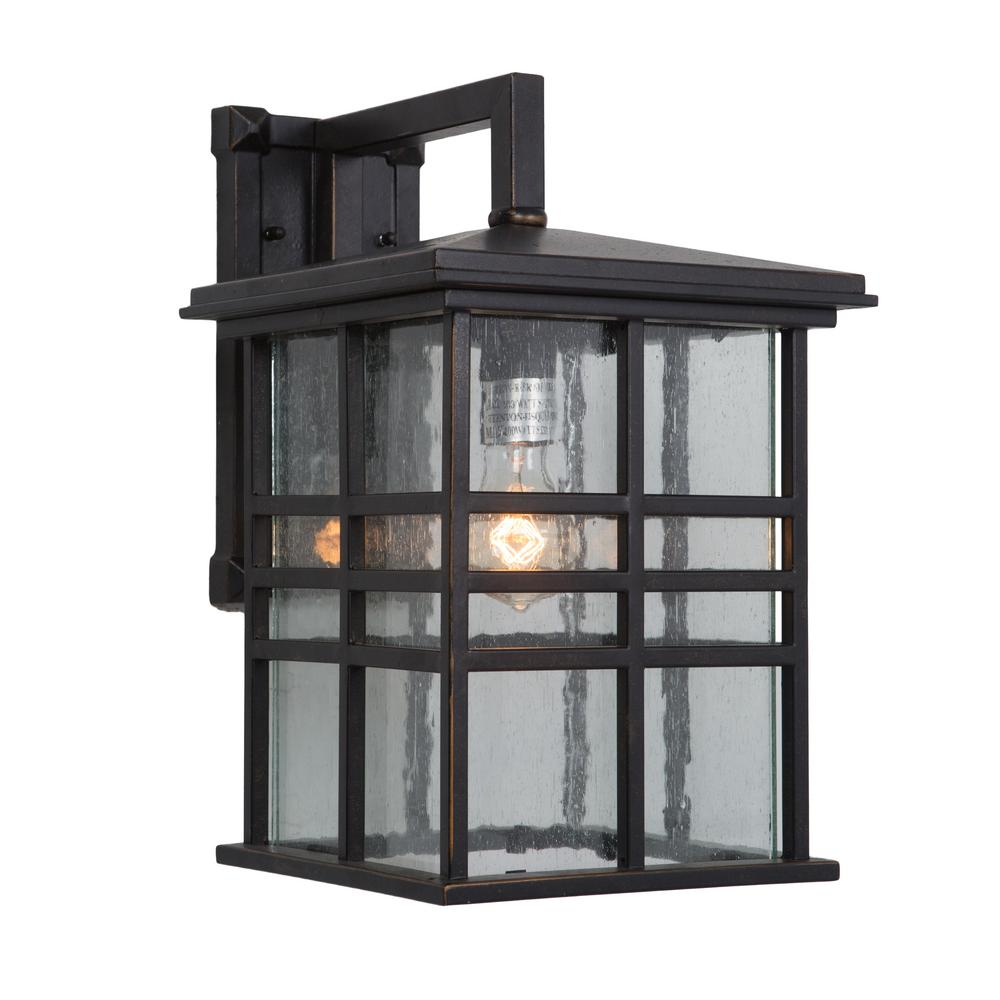 Yosemite Home Decor Chamise Collection 1 Light Oil Rubbed Bronze Outdoor Wall Mount Lamp 1463orb