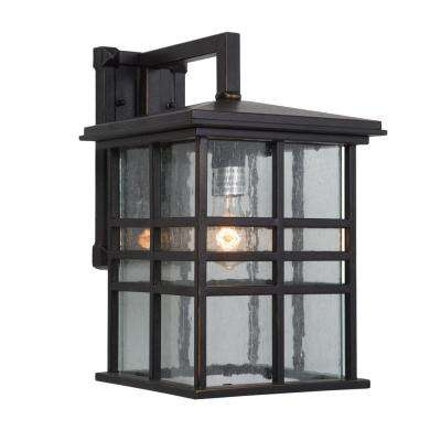 Chamise Collection 1-Light Oil-Rubbed Bronze Outdoor Wall Mount Lamp