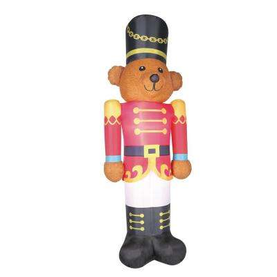 9 ft. Inflatable Fuzzy Bear Soldier