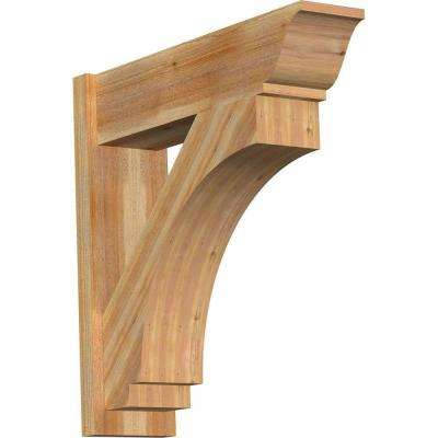 8 in. x 30 in. x 30 in. Imperial Traditional Rough Sawn Western Red Cedar Outlooker