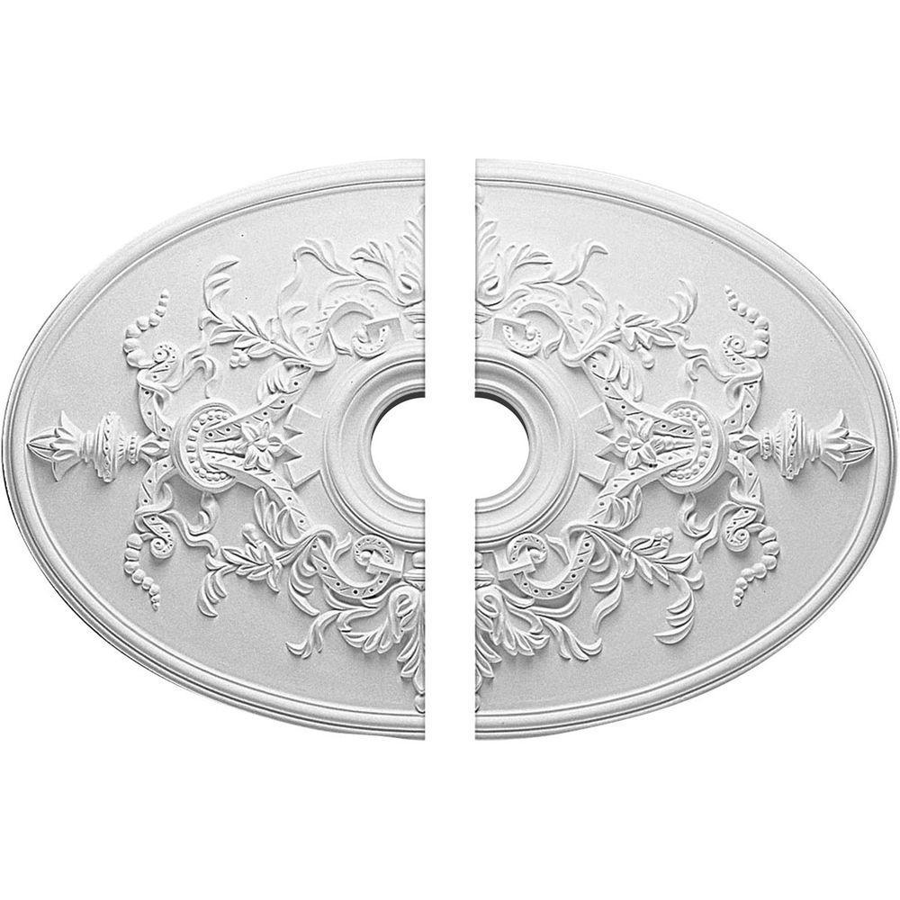 21-1/4 in. W x 30-3/4 in. H x 1-5/8 in. P Alexa Ceiling Medallion (2-Piece)