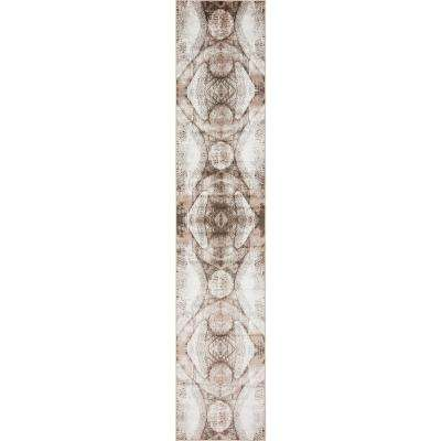 Sofia Albert Brown 3' 3 x 16' 5 Runner Rug