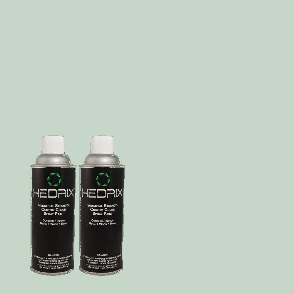 Hedrix 11 oz. Match of 2A52-3 Ocean Mist Flat Custom Spray Paint (2-Pack)