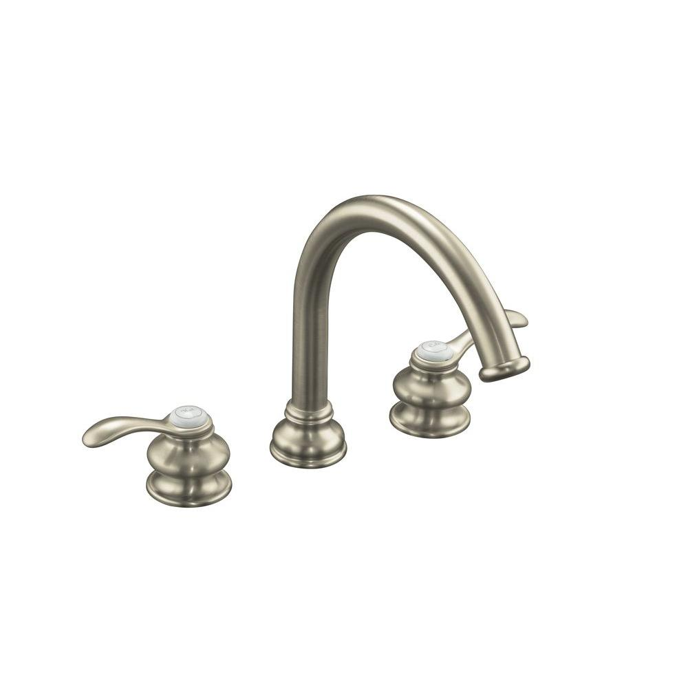 deck mount tub faucet with diverter. Kohler Fairfax 2 Handle Deck Mount Roman Tub Faucet Trim In Vibrant Brushed  Nickel