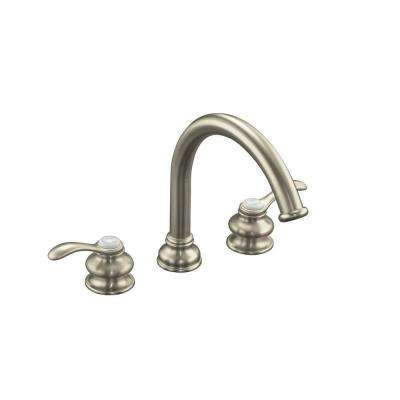 Fairfax 2-Handle Deck-Mount Roman Tub Faucet Trim in Vibrant Brushed Nickel (Valve Not Included)