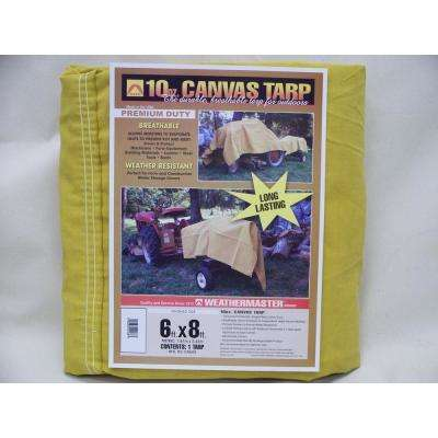 6 ft. x 8 ft. Tan Canvas Tarp
