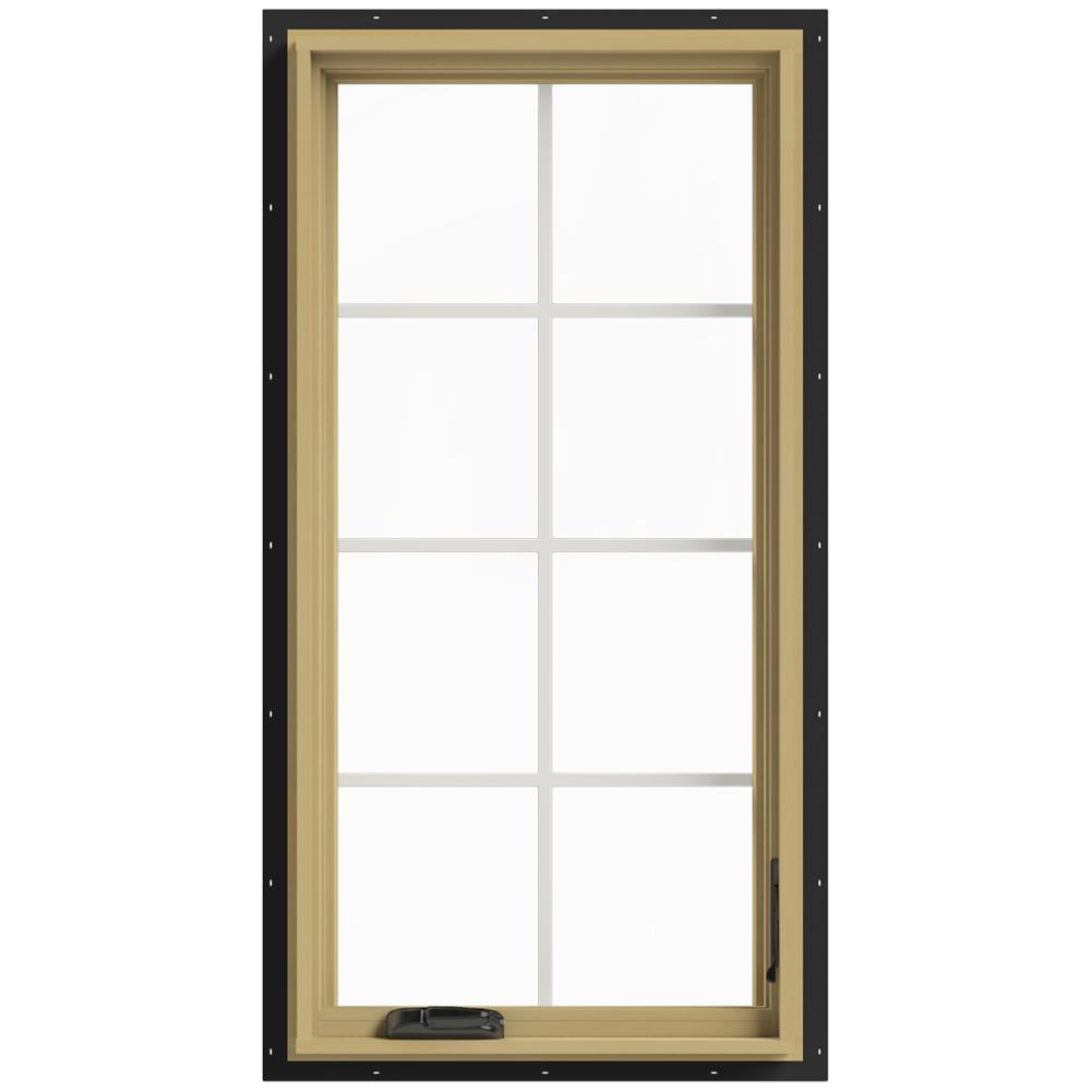 24 in. x 48 in. W-2500 Right Hand Casement Aluminum Clad