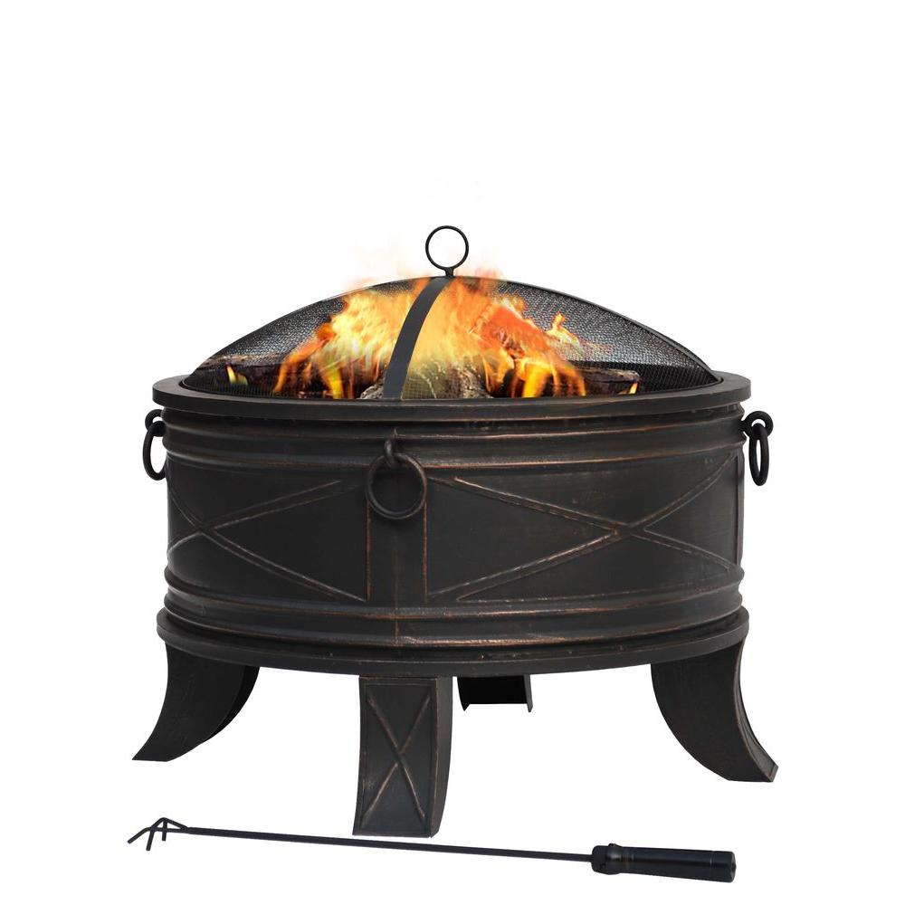 hampton bay quadripod 26 in round fire pit ft 51161 the home depot rh homedepot com hampton bay outdoor fireplace parts hampton bay outdoor fireplace propane