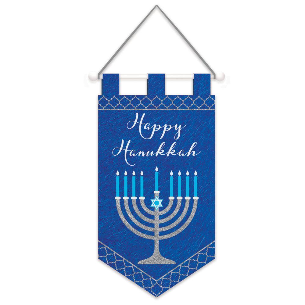 21 in. x 11.25 in. x .50 in. Hanukkah Felt Banner (3-Pack)