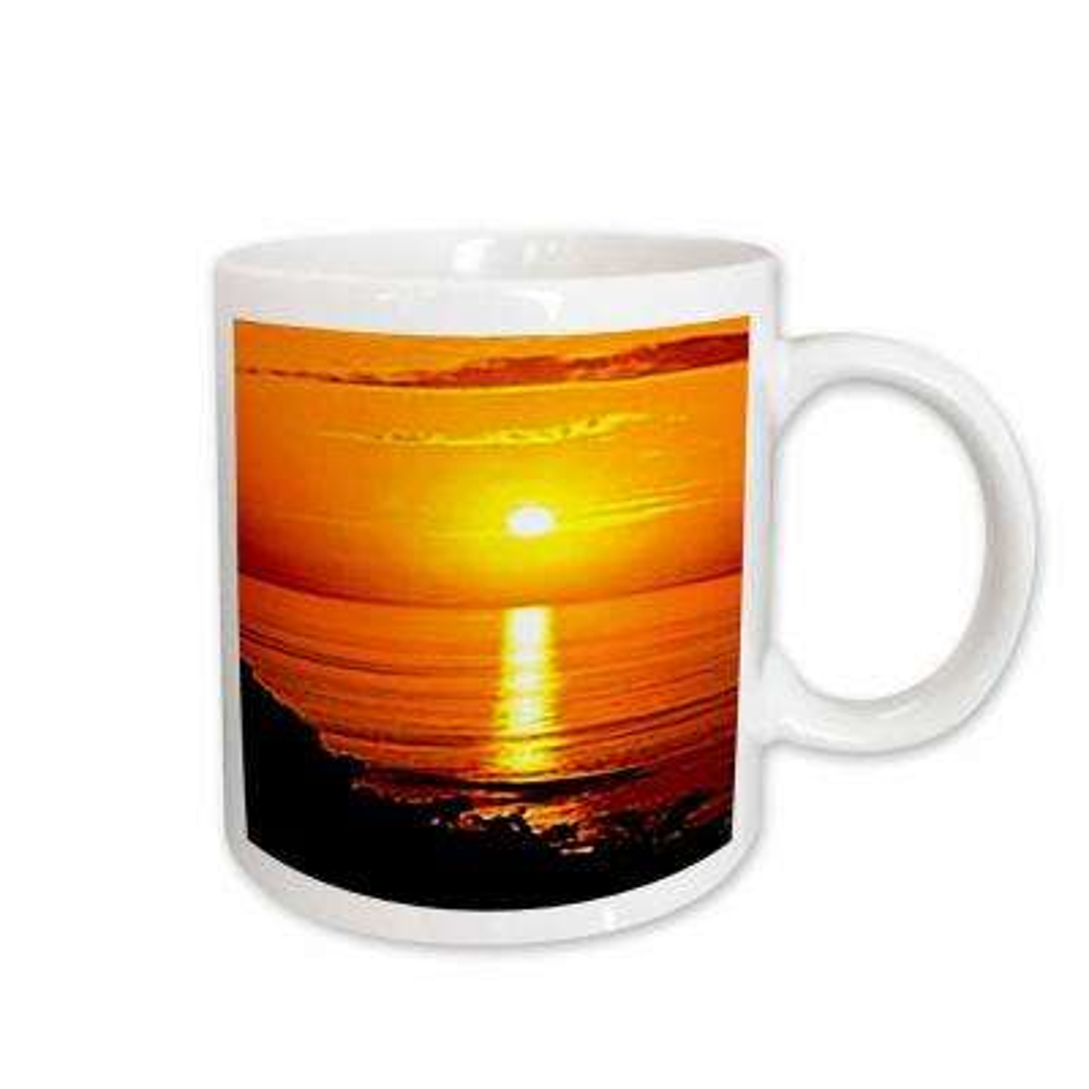 11 oz. White Ceramic Sunset Mug