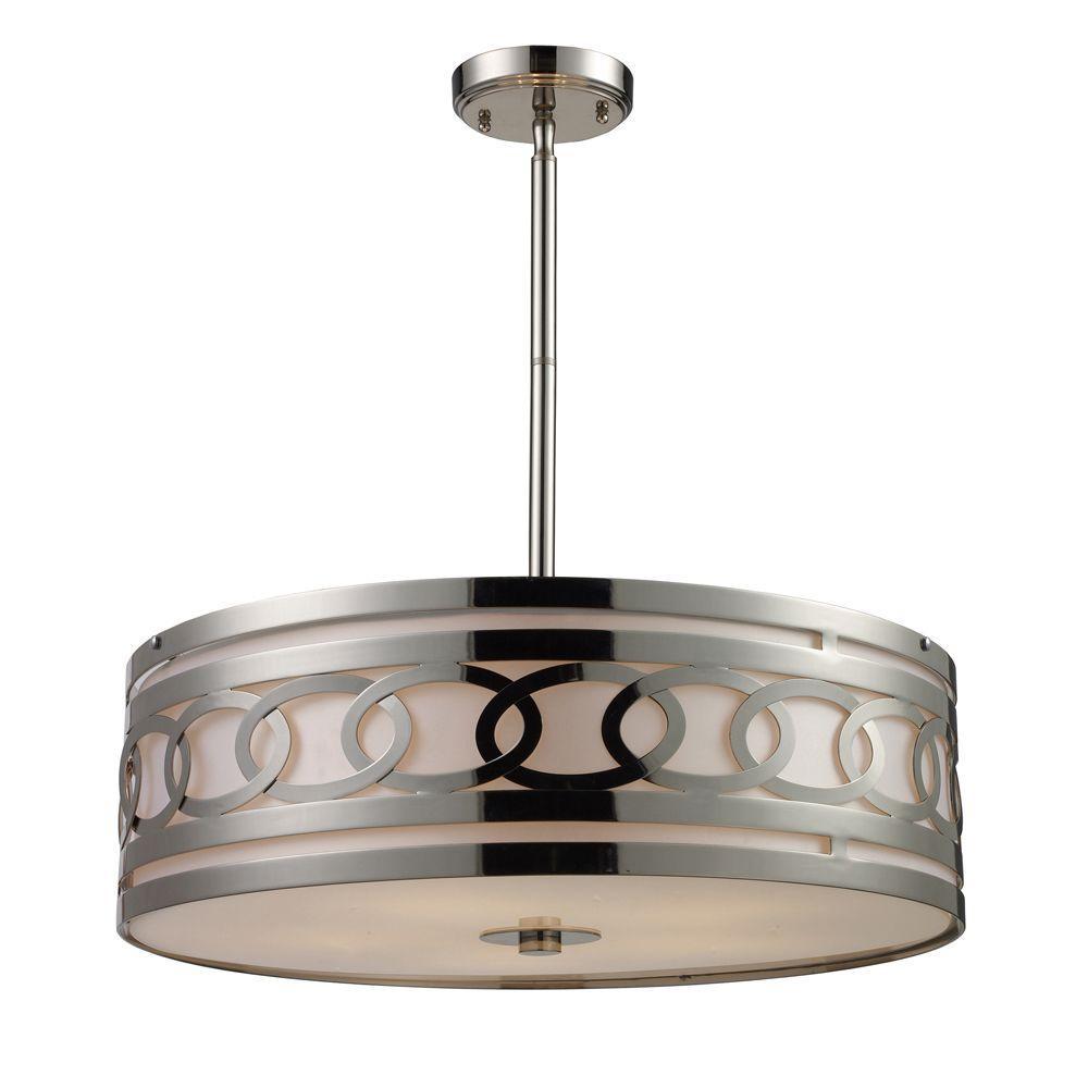 Titan Lighting Zarah 5-Light Polished Nickel Ceiling Pendant