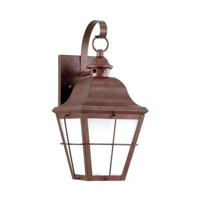 Chatham 1-Light Weathered Copper Outdoor Wall Mount Lantern