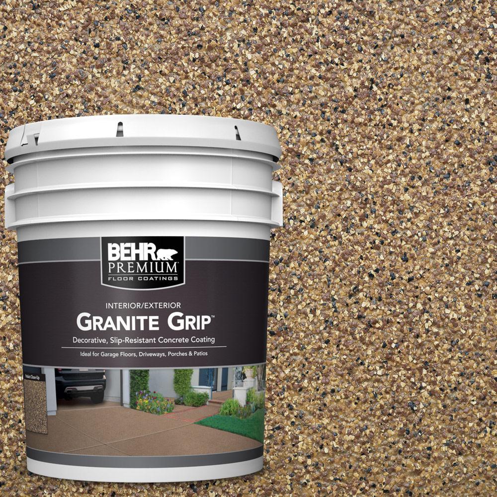 Behr Premium 5 Gal Gg 13 Pebble Sunstone Decorative Flat Interior Exterior Concrete Floor Coating