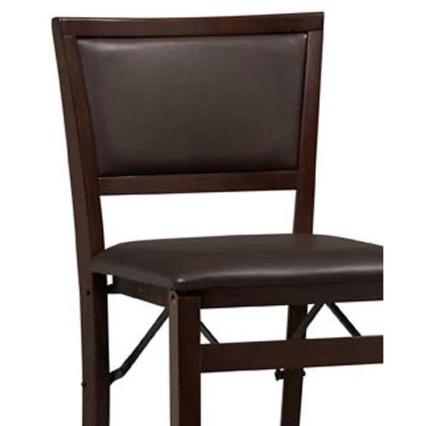 Fine Linon Home Decor Triena 24 In Espresso Pad Back Folding Frankydiablos Diy Chair Ideas Frankydiabloscom