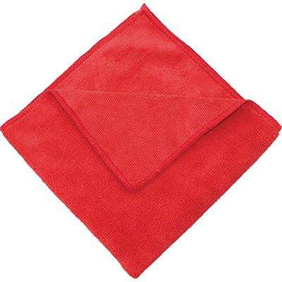 16 in. x 16 in. Red Microfiber Cleaning Towel (Pack of 12)