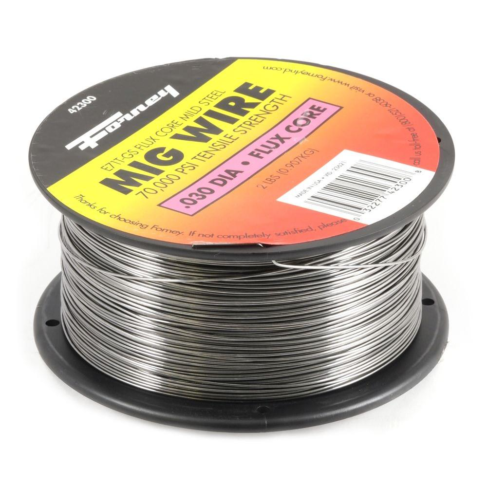 Flux Core Welding Wire >> Forney 0 030 In Dia Flux Core Mild Steel Mig Wire 2 Lb Spool