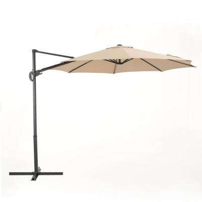 11.5 ft. Steel Cantilever Tilt Patio Umbrella in Sand