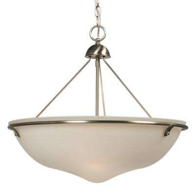Negron 3-Light Brushed Nickel Incandescent Pendant