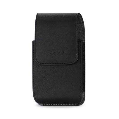 Large Vertical Leather Holster in Black