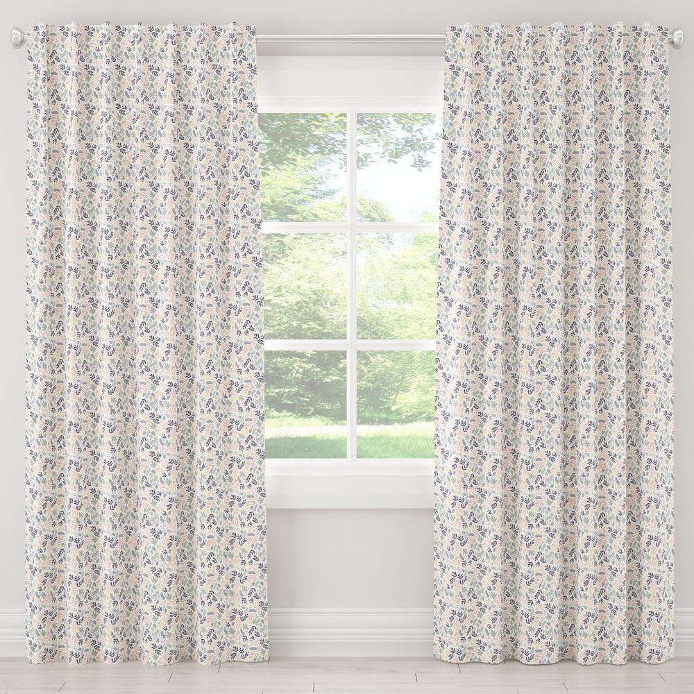 50 in. W x 108 in. L Blackout Curtain in Scando Multi