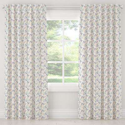 50 in. W x 120 in. L Blackout Curtain in Scando Multi