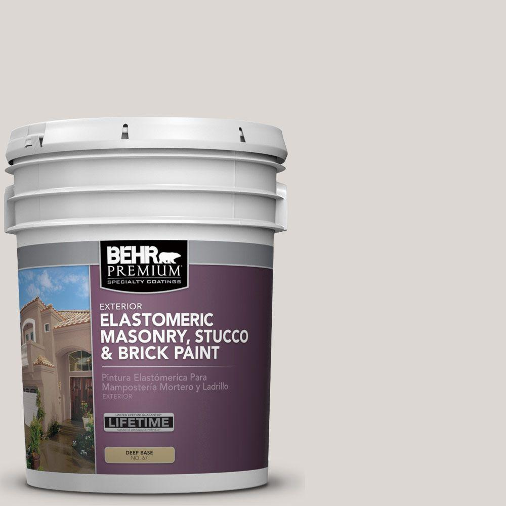 5 gal. #MS-88 Pearl Gray Elastomeric Masonry, Stucco and Brick Paint