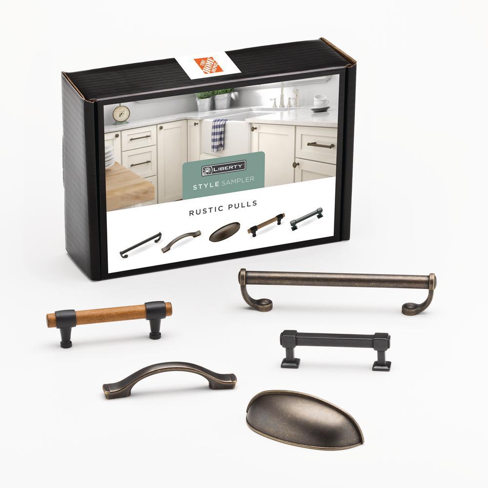 Liberty Rustic Drawer Pull Sample Box 5 Pack
