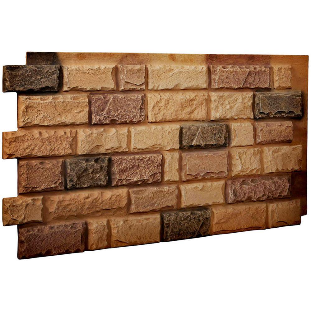 1-1/2 in. x 48 in. x 25 in. Arizona Gold Urethane Cut Coarse Random Rock Wall Panel