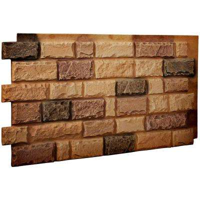 1-1/2 in. x 48 in. x 25 in. Arizona Gold Urethane Cut Coarse Random Rock Wall Panel