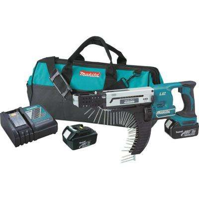 18-Volt LXT Lithium-Ion 1/4 in. Cordless Auto-Feed Screwdriver Kit with (2) Batteries (3.0Ah), Charger and Tool Bag
