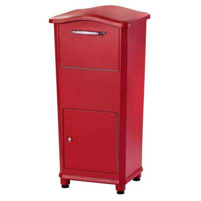 Elephantrunk Parcel Drop Box in Red