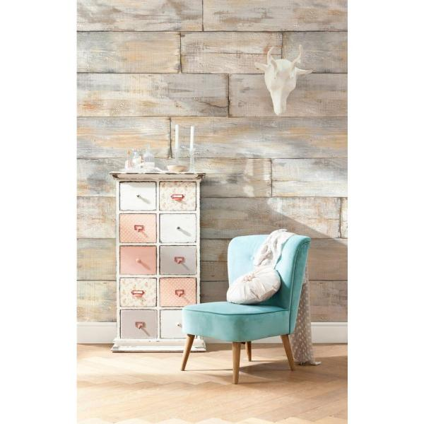 145 in. H x 98 in. W Shabby Chic Wall Mural