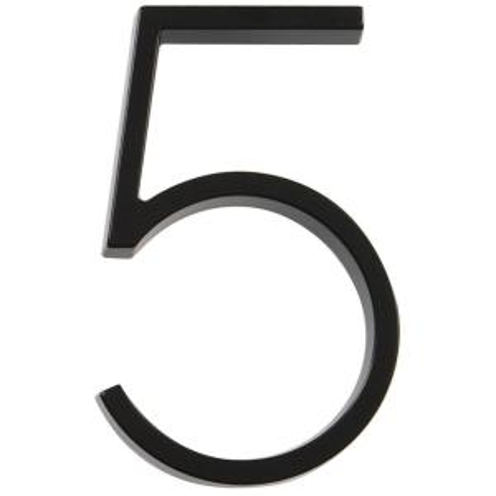 5 in. Elevated Black Number 5