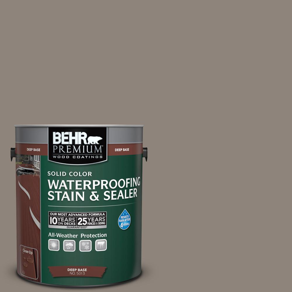 1 gal. #N200-5 Woodcraft Solid Color Waterproofing Exterior Wood Stain and