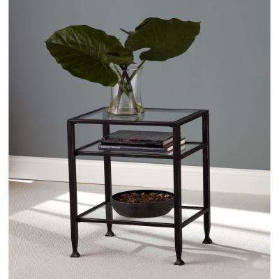 Rustic Black Accent Tables Living Room Furniture The Home Depot
