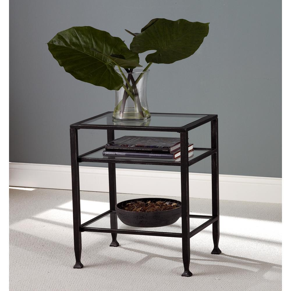 Southern Enterprises Black Metal End Table